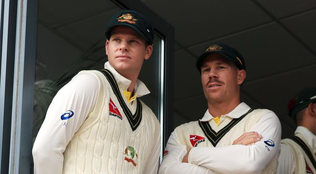 Steve Smith, left, and David Warner will be in action against Afghanistan. (Nick Potts/PA)