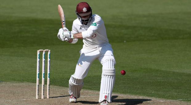 Surrey's Ben Foakes produced a positive display in testing conditions. (Bradley Collyer/PA)