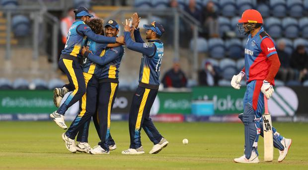 Sri Lanka recovered from a batting collapse to fightback in the field and defeat Afghanistan (David Davies/PA)