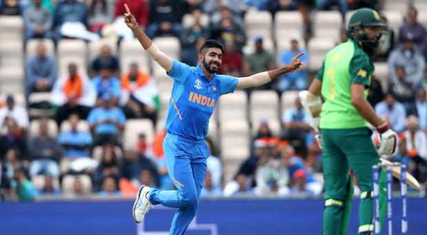 India's Jasprit Bumrah helped see off South Africa in Southampton (Adam Davy/PA)