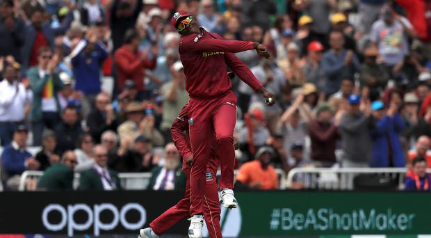 Sheldon Cottrell took a stunning catch for the West Indies (Simon Cooper/PA)