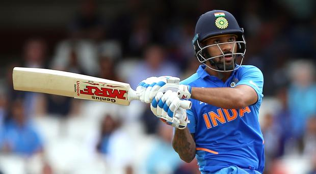 Shikhar Dhawan made a century at the weekend (Nigel French/PA)