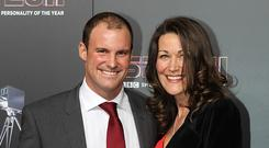 Andrew Strauss and his wife Ruth, who died last December (David Davies/PA)