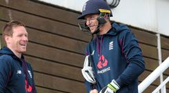 England captain Eoin Morgan, left, and his deputy Jos Buttler (Mark Kerton/PA)