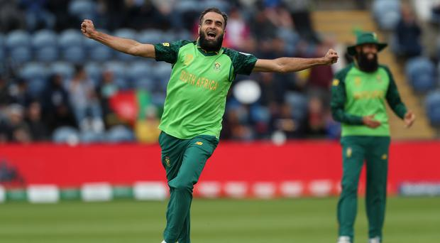 South Africa's Imran Tahir took four wickets in the World Cup victory against Afghanistan (David Davies/PA)