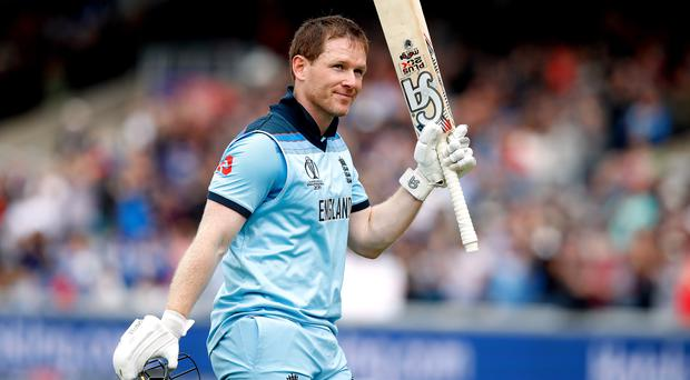 Eoin Morgan blasted an ODI-record 17 sixes against Afghanistan (Martin Rickett/PA)