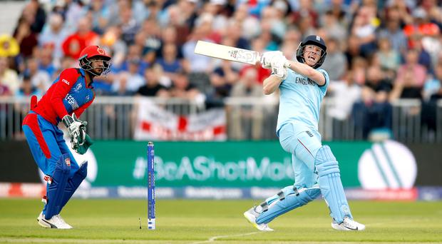 England's Eoin Morgan broke records against Afghanistan (Martin Rickett/PA)
