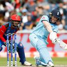 Eoin Morgan cleared the boundary rope with alarming regularity in his record-breaking innings (Martin Rickett/PA)