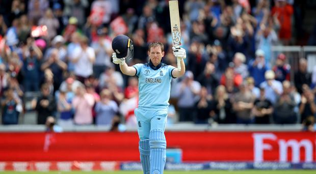Eoin Morgan's performance drew warm applause at Old Trafford (Tim Goode/PA)