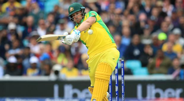 Australia captain Aaron Finch shares the highest score at the World Cup with England's Jason Roy (Adam Davy/PA)