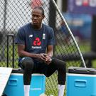 England's Jofra Archer during a nets session at Lord's.