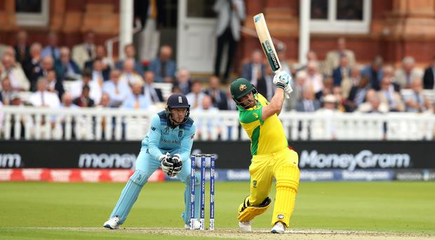 Australia's Aaron Finch helped his team take control at Lord's (Tim Goode/PA)