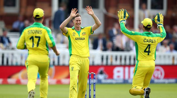 Jason Behrendorff undermined England's chase with five wickets (Tim Goode/PA)
