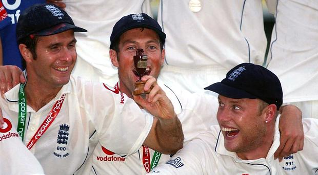 Marcus Trescothick (centre) has announced he will retire at the end of the season (Chris Young/PA)
