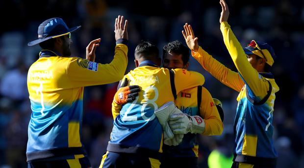Sri Lanka beat England at Headingley (Tim Goode/PA)