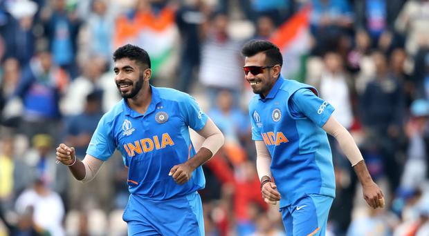 India's Jasprit Bumrah (left) finished with four wickets against Bangladesh (Adam Davy/PA)