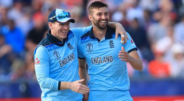 The manner in which England have seen off India and New Zealand left Eoin Morgan (left) thoroughly satisfied (Owen Humphreys/PA)