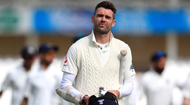 James Anderson will go for a scan on a calf problem (Mike Egerton/PA)