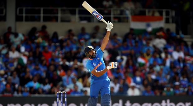 India's Rohit Sharma on his way to another century at the Cricket World Cup (Nigel French/PA).