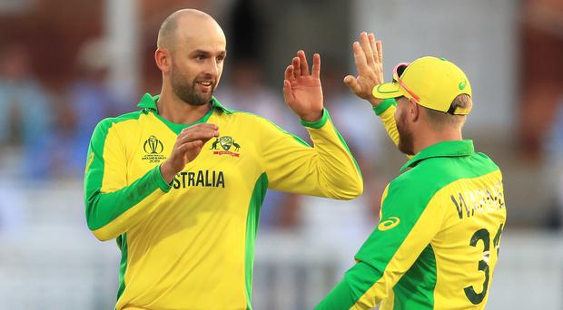 Nathan Lyon, left, has ramped up the pressure on England (Mike Egerton/PA)