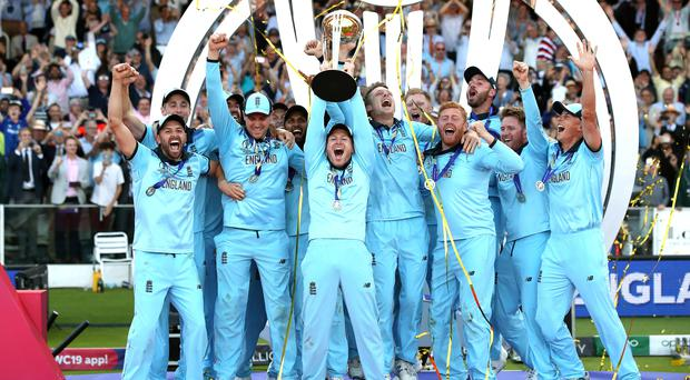 England celebrate winning the Cricket World Cup (Nick Potts/PA)