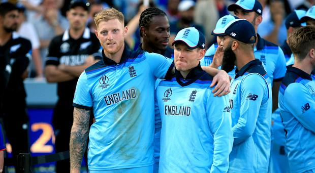 Ben Stokes, left, played a crucial role in England's World Cup success (Nick Potts/PA)