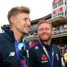 Joe Root (left) and Jonny Bairstow feel like they have just played in the best game of all time (Steven Paston/PA)
