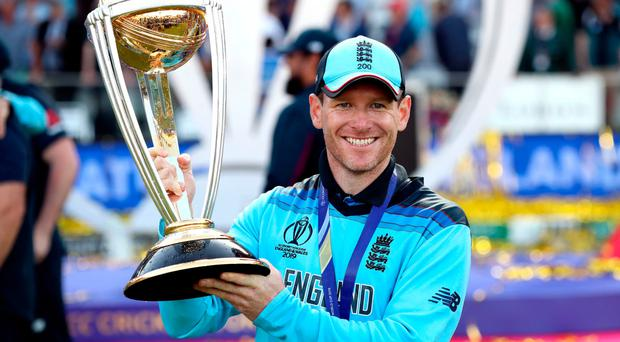 Coming home: England's World Cup winning captain Eoin Morgan will play for Dublin Chiefs in the inaugural Euro T20 Slam
