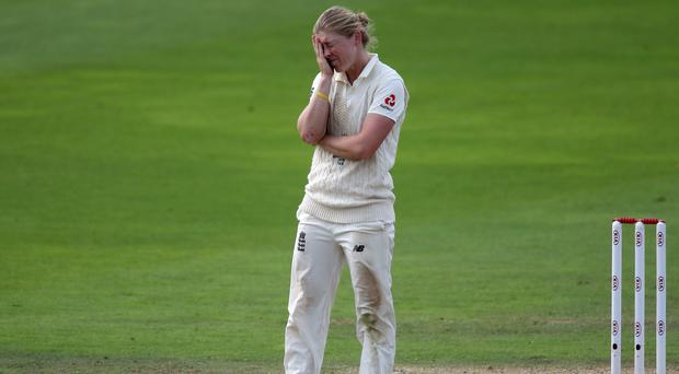 Heather Knight could not inspire England to victory over Australia in the only Test match of the Women's Ashes series (Nick Potts/PA)