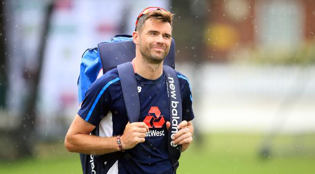 James Anderson will not feature against Ireland (Adam Davy/PA)