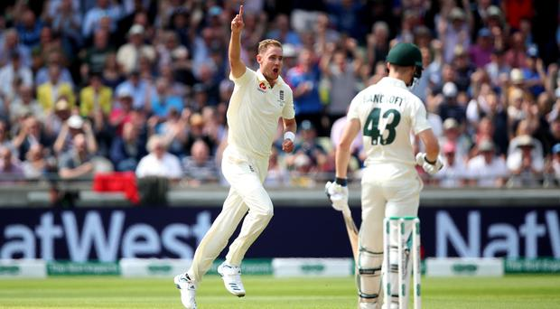 Stuart Broad struck early on the opening morning of the 2019 Ashes (Nick Potts/PA)