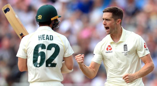 Chris Woakes, pictured, and Stuart Broad shared seven wickets (Mike Egerton/PA)