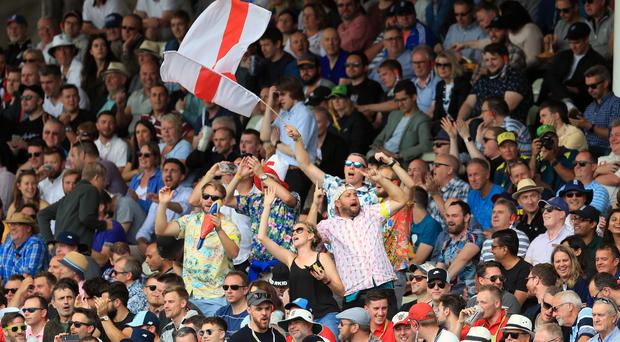 England fans at Edgbaston on the opening day of the Ashes (Mike Egerton/PA)
