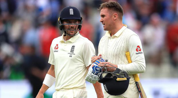 Rory Burns and Jason Roy survived two overs on day one (Mike Egerton/PA)