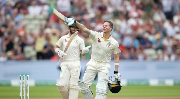 Steve Smith scored a century in both innings (Nick Potts/PA)