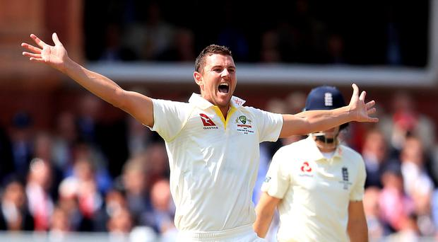 Australia's Josh Hazlewood took two wickets in the morning session (Mike Egerton/PA)