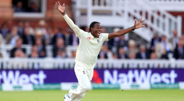 Jofra Archer has his first Test wicket (Mike Egerton/PA)