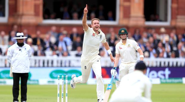 Broad believes England need to bowl Australia out by Lord's (Mike Egerton/PA)