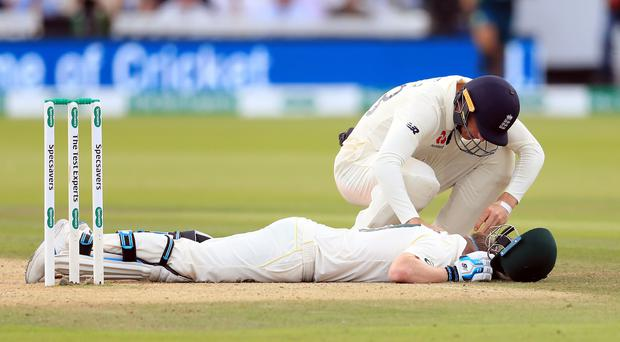 Steve Smith was floored by a Jofra Archer bouncer (Mike Egerton/PA).
