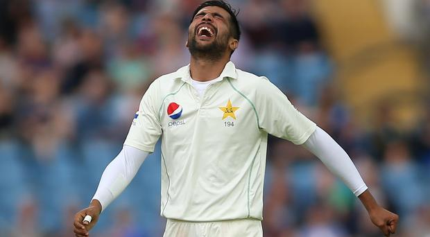Mohammad Amir took three wickets to help Specsavers County Championship leaders Essex turn the screw on Kent (Nigel French/PA)