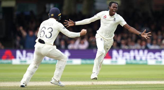 Jofra Archer impressed with his searing pace and brutal deliveries on his Test debut (John Walton/PA).