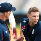England captain Joe Root, right, is ready to face an Australia team missing Steve Smith (Mike Egerton/PA)