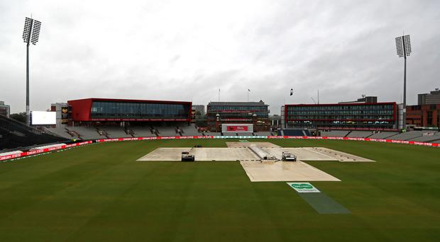 Rain delayed the start of the third day at Old Trafford (Mike Egerton/PA)