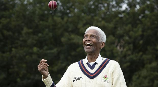 Cecil Wright, 85, started playing cricket in Jamaica using an orange. (Danny Lawson/PA)