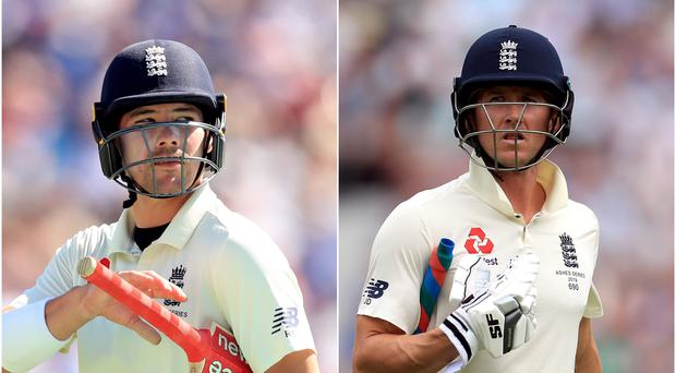 Rory Burns (left) and Joe Denly (right) will look to build a platform for England (Mike Egerton/PA)