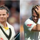 Steve Smith, left, hit more boundaries than David Warner scored runs (Mike Egerton/PA)