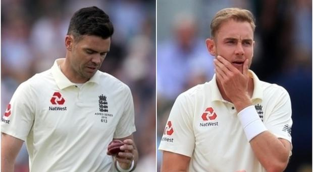 Michael Vaughan thinks James Anderson and Stuart Broad should be rotated (Adam Davy/PA)