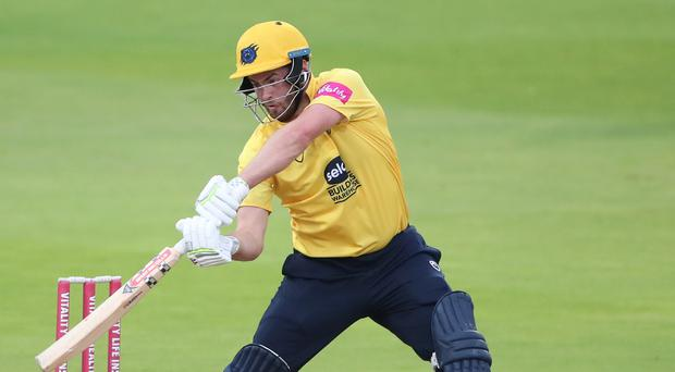 Dominic Sibley scored his second century of the game as Warwickshire beat Nottinghamshire (Nick Potts/PA)