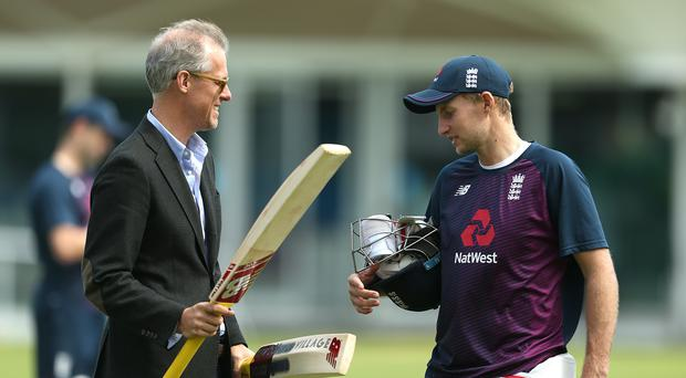 Ed Smith (left) and Joe Root have started planning for England to win back the Ashes in the 2021-22 series (Steven Paston/PA)