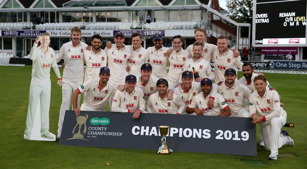 Essex won the County Championship title at Essex (Steven Paston/PA)
